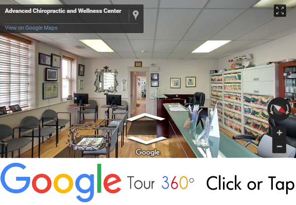 Take the Google 360 degree tour of Dr. Neil Liebman's Advanced Chiropractic and Wellness Center is located in Pennsauken, South Jersey.
